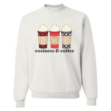 Coziness & COffee Monogram Crewneck personalized