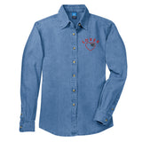 Monogrammed 'Lover' Denim Shirt