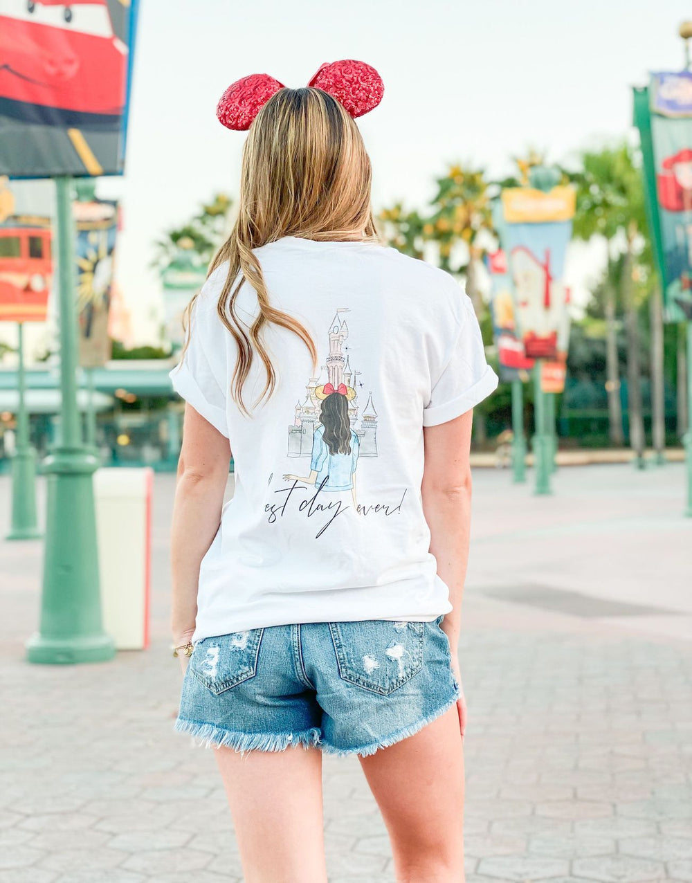 Disney Monogram Mickey Mouse Front Back Comfort Colors Tee