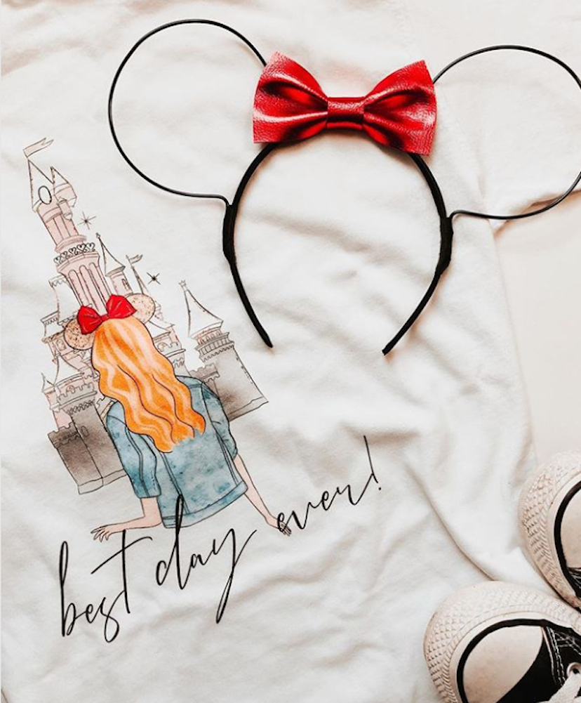 Disney Front/Back Comfort Colors Monogram Tee