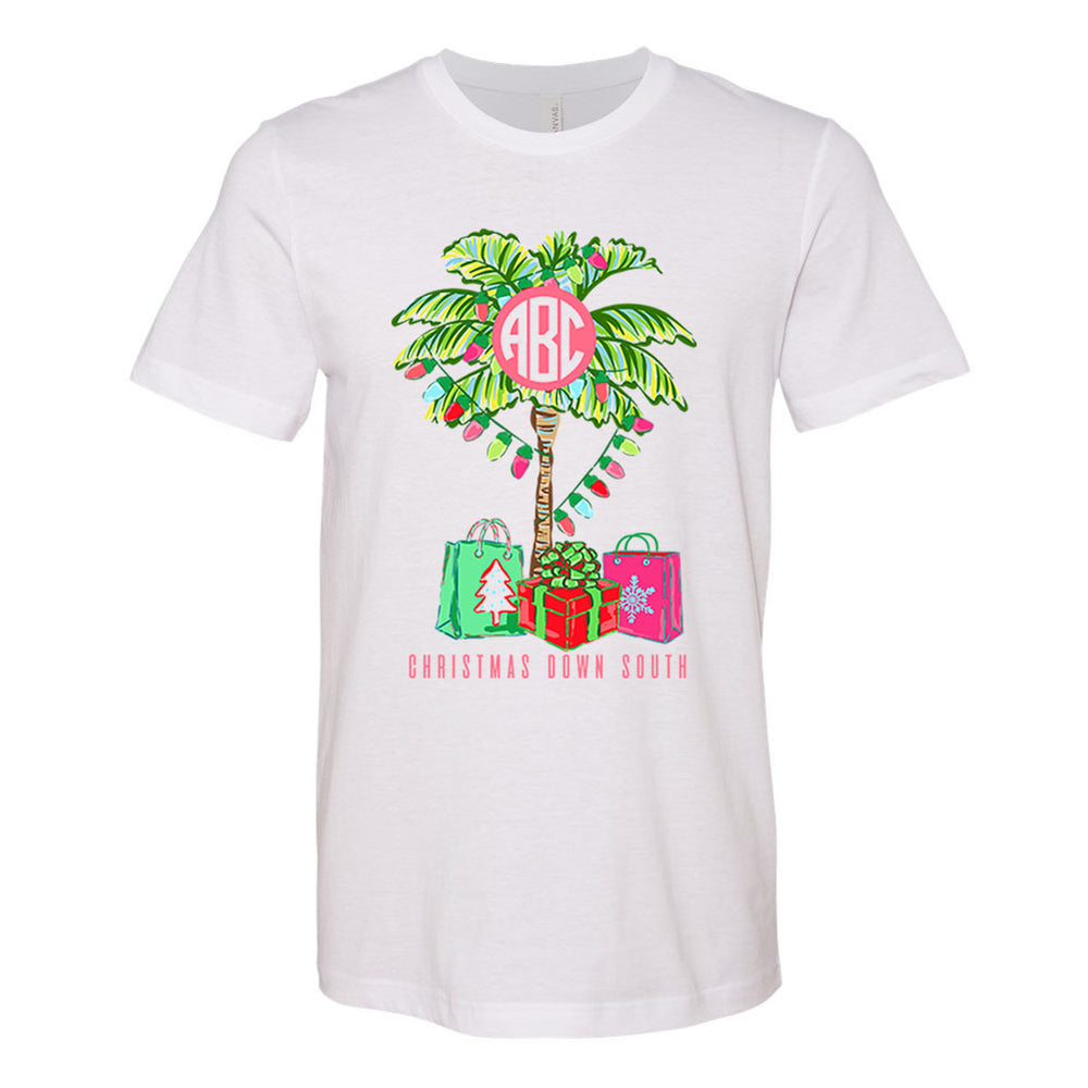 Monogrammed 'Christmas Down South' Premium T-Shirt