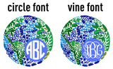 Circle or Vine- Explore Monogram Options