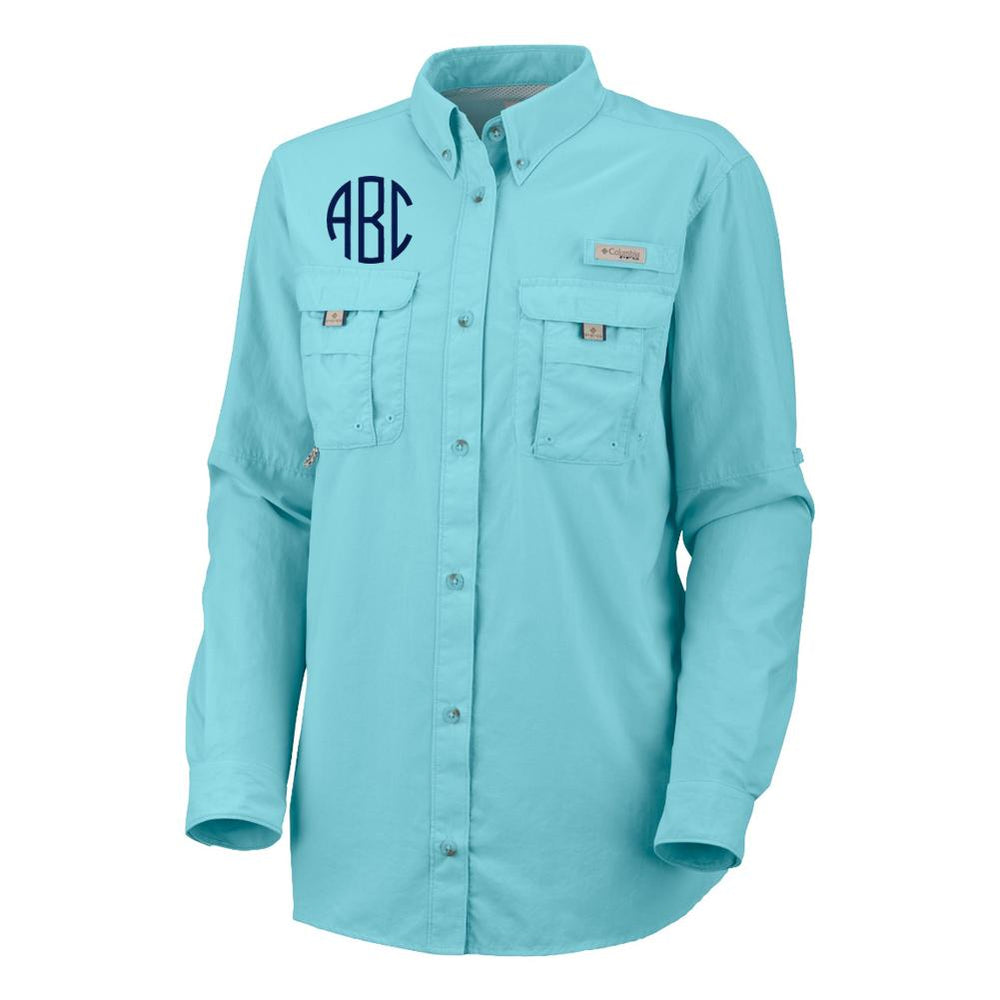 2c99ce171f Monogrammed Columbia PFG Ladies Long Sleeve Fishing Shirt – United ...