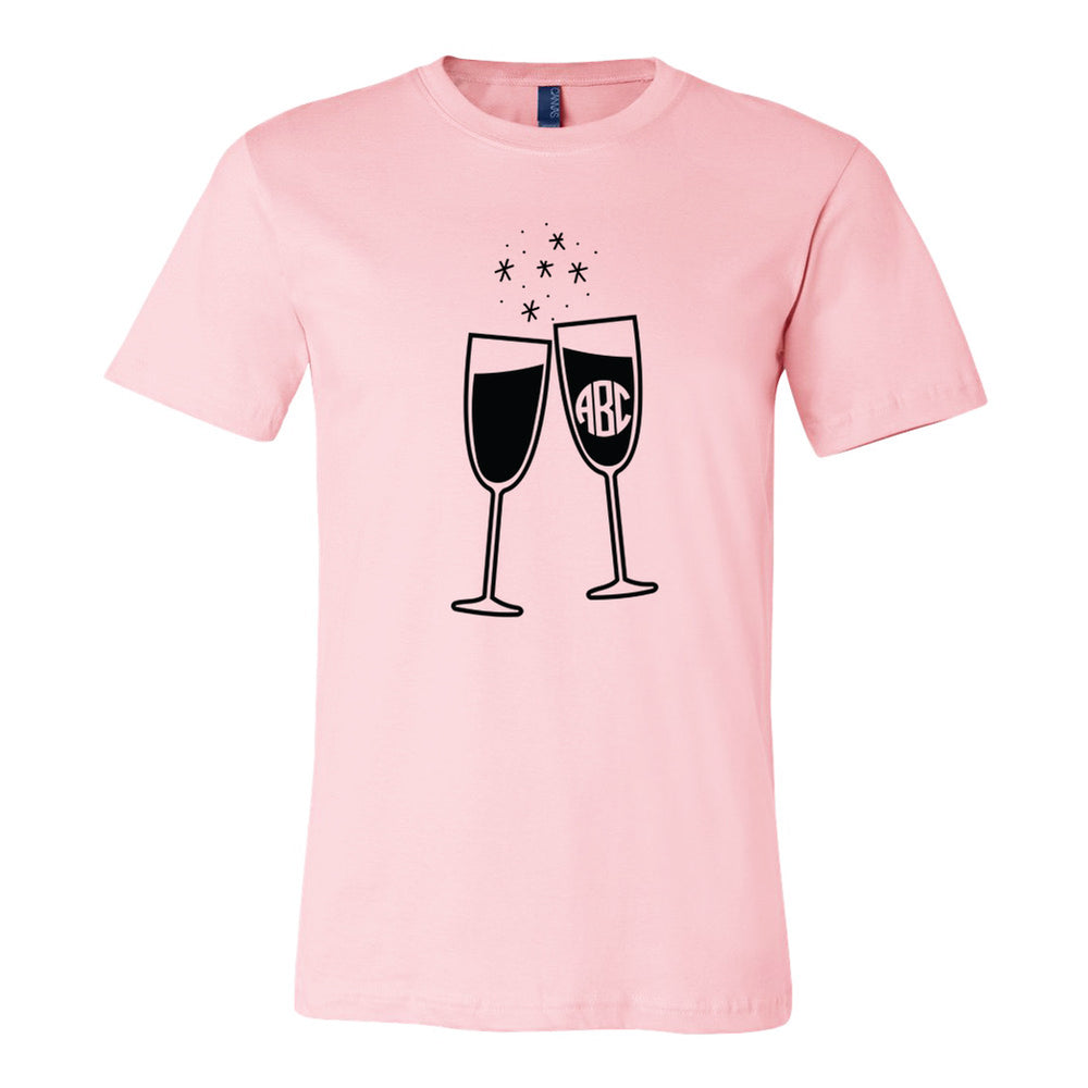 Bella T-Shirt with Monogram and Champagne GLasses