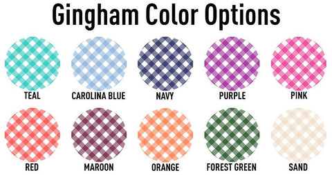 United Monograms Gingham Pattern Color Options