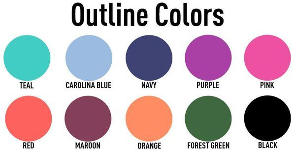 Gingham Outline Colors
