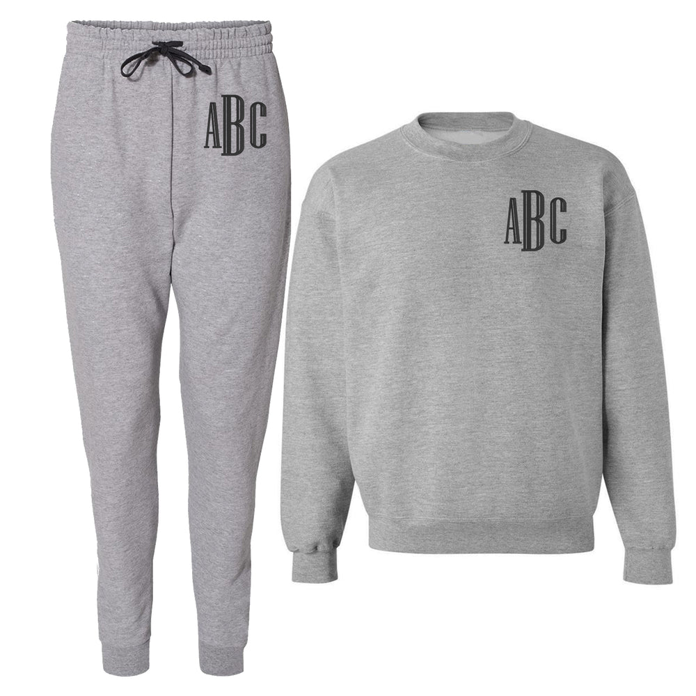 Monogrammed Jogger Sweat Set