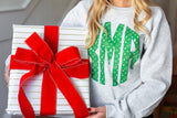 Monogrammed 'Grinch Pattern' Big Print Crewneck Sweatshirt