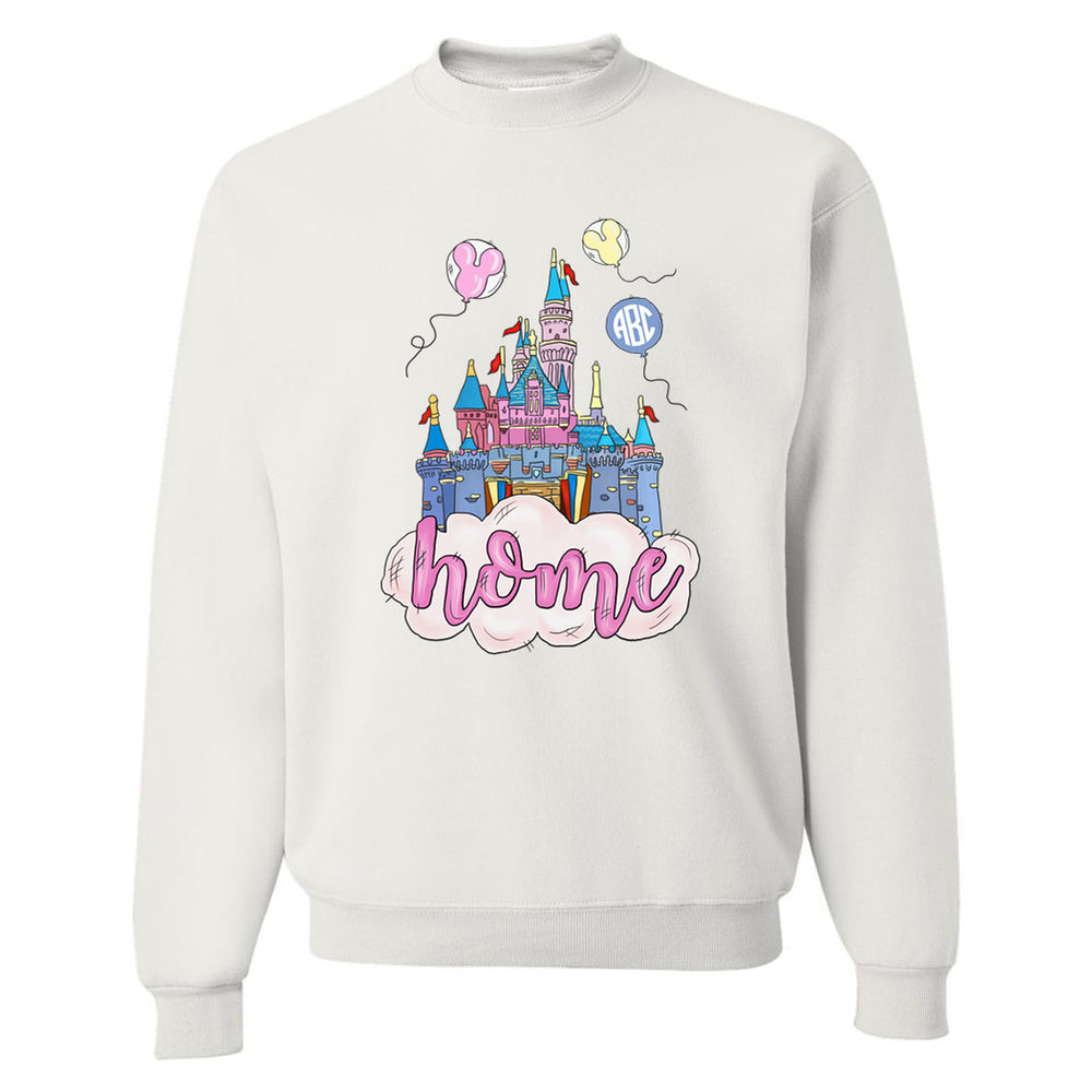 Monogrammed 'Disney Is Home' Crewneck Sweatshirt