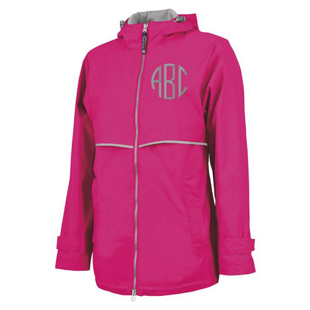 Monogrammed New Englander Full Zip Rain Jacket