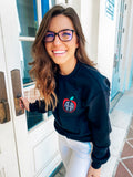 Monogrammed Apple Teacher Crewneck Sweatshirt