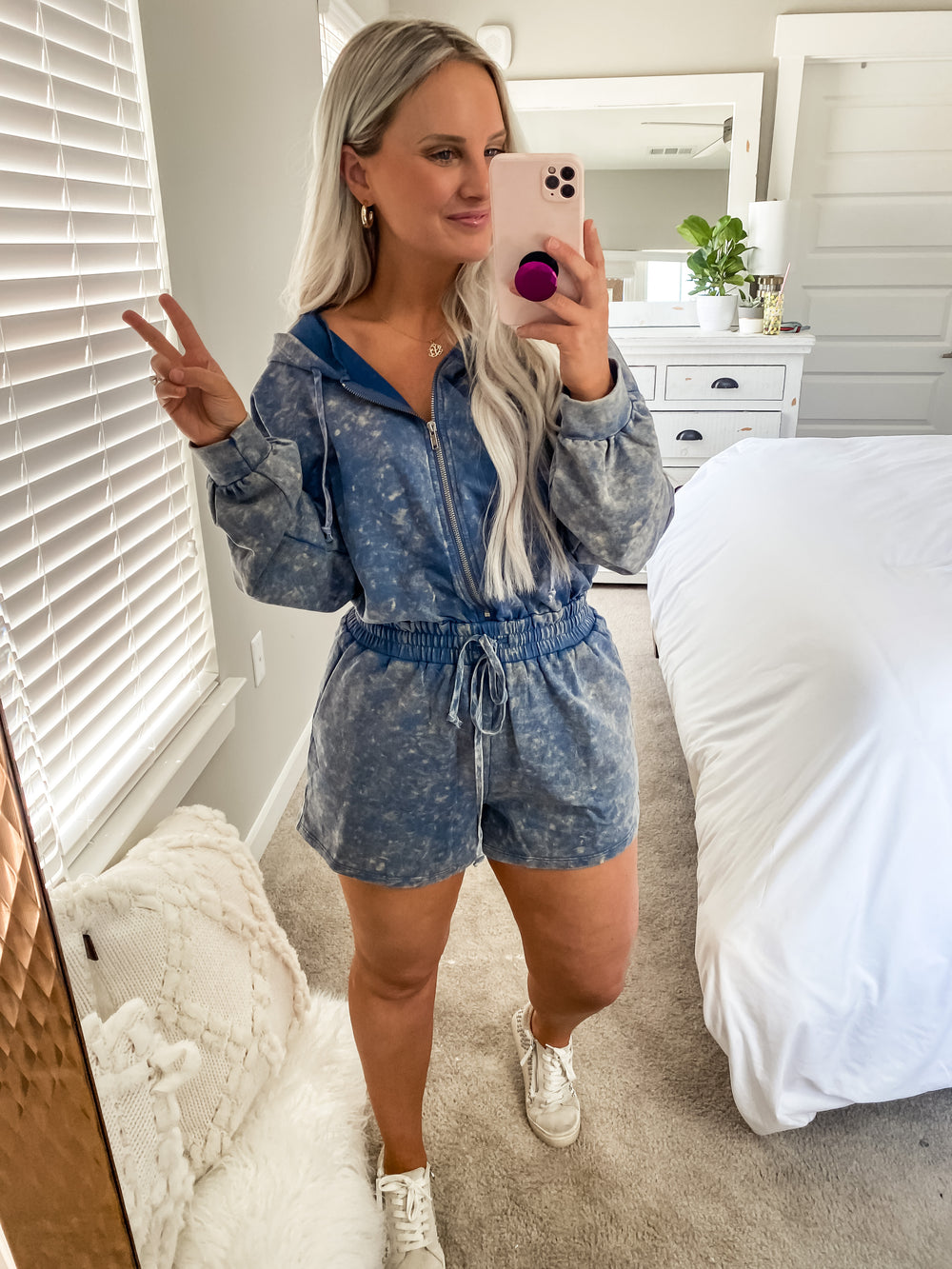 Washed Terry Romper