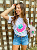 Monogrammed Watercolor Watermelon T-Shirt
