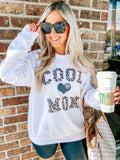 Monogrammed Cool Mom Leopard Sweatshirt