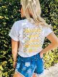 Monogrammed 'Always Look On The Bright Side' Front & Back T-Shirt