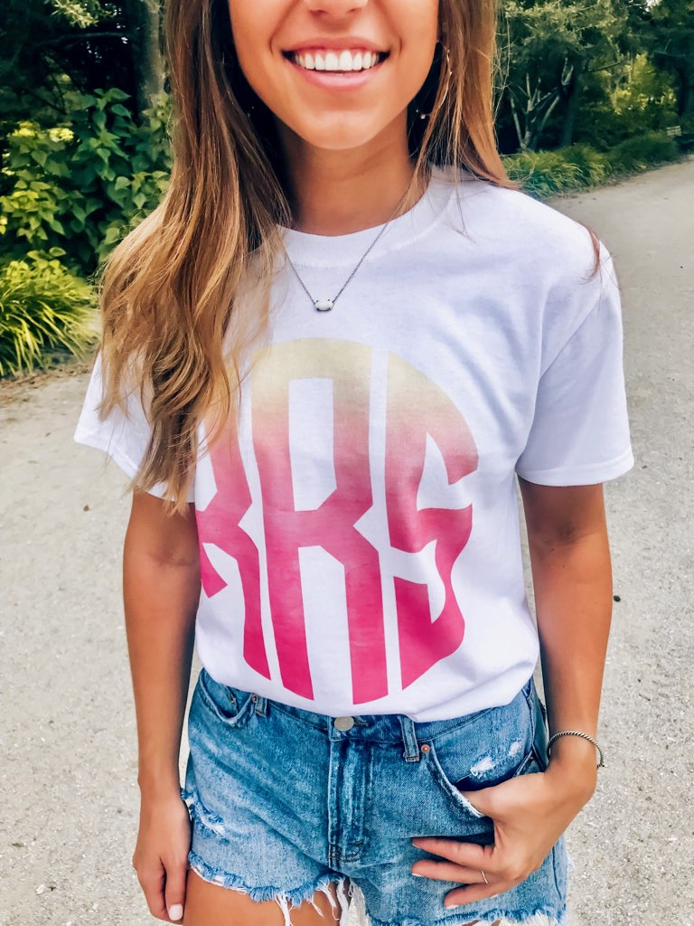 Monogrammed Ombre T-Shirt