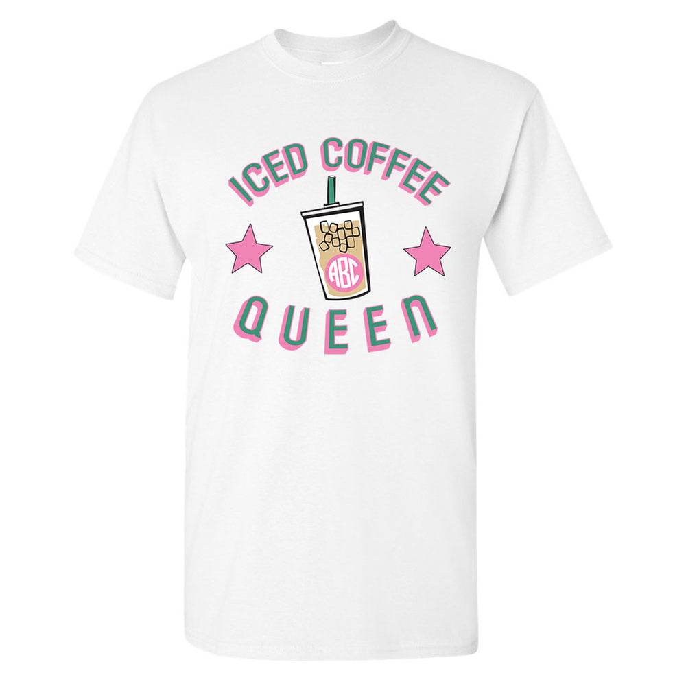 Ice Coffee Quen Caffeine Queen T-Shirt Monogram