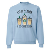 Light Blue Coffee Crew United Monograms