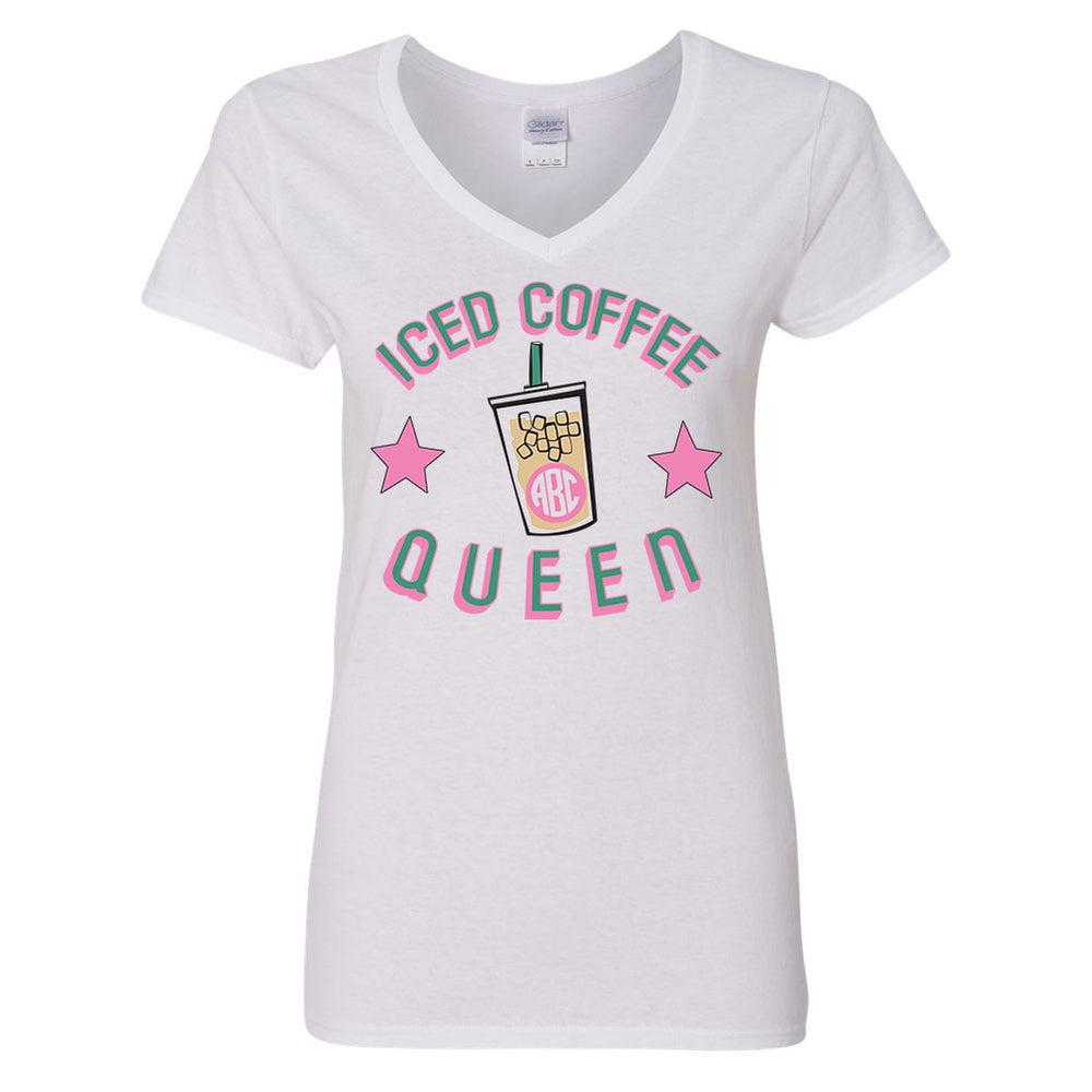 Iced Coffee Queen V-Neck Shirt