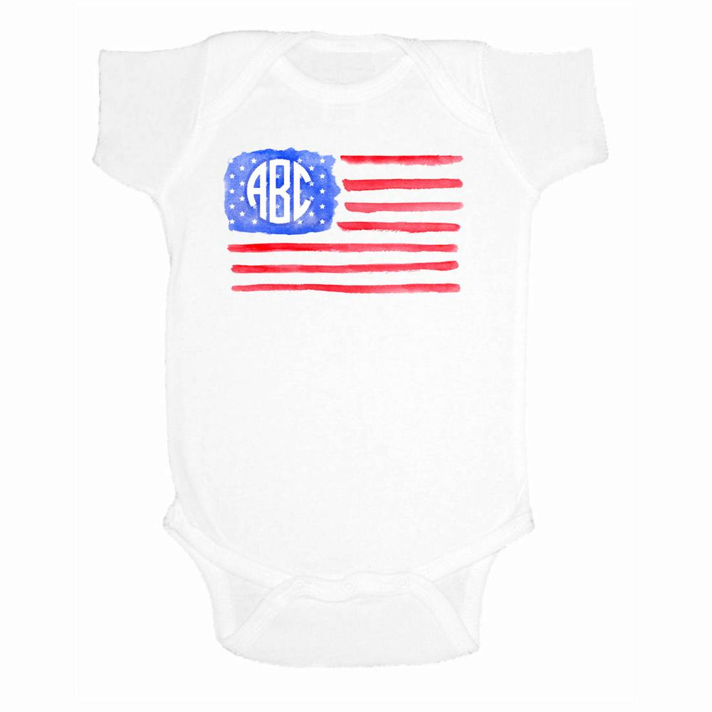 American Flag Monogram for Infants