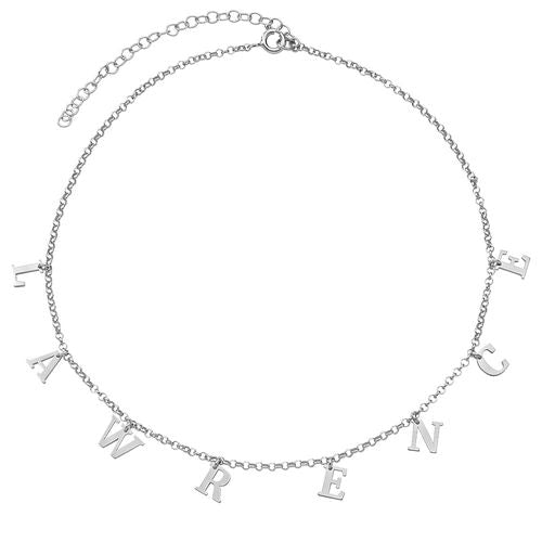 Choker Name Necklace - Silver