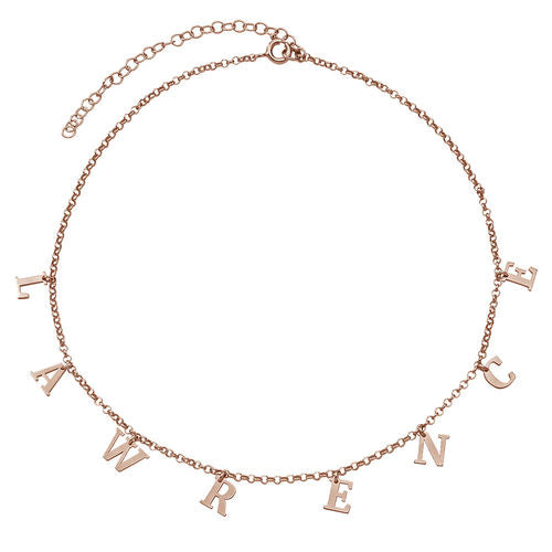 Choker Name Necklace - Rose Gold