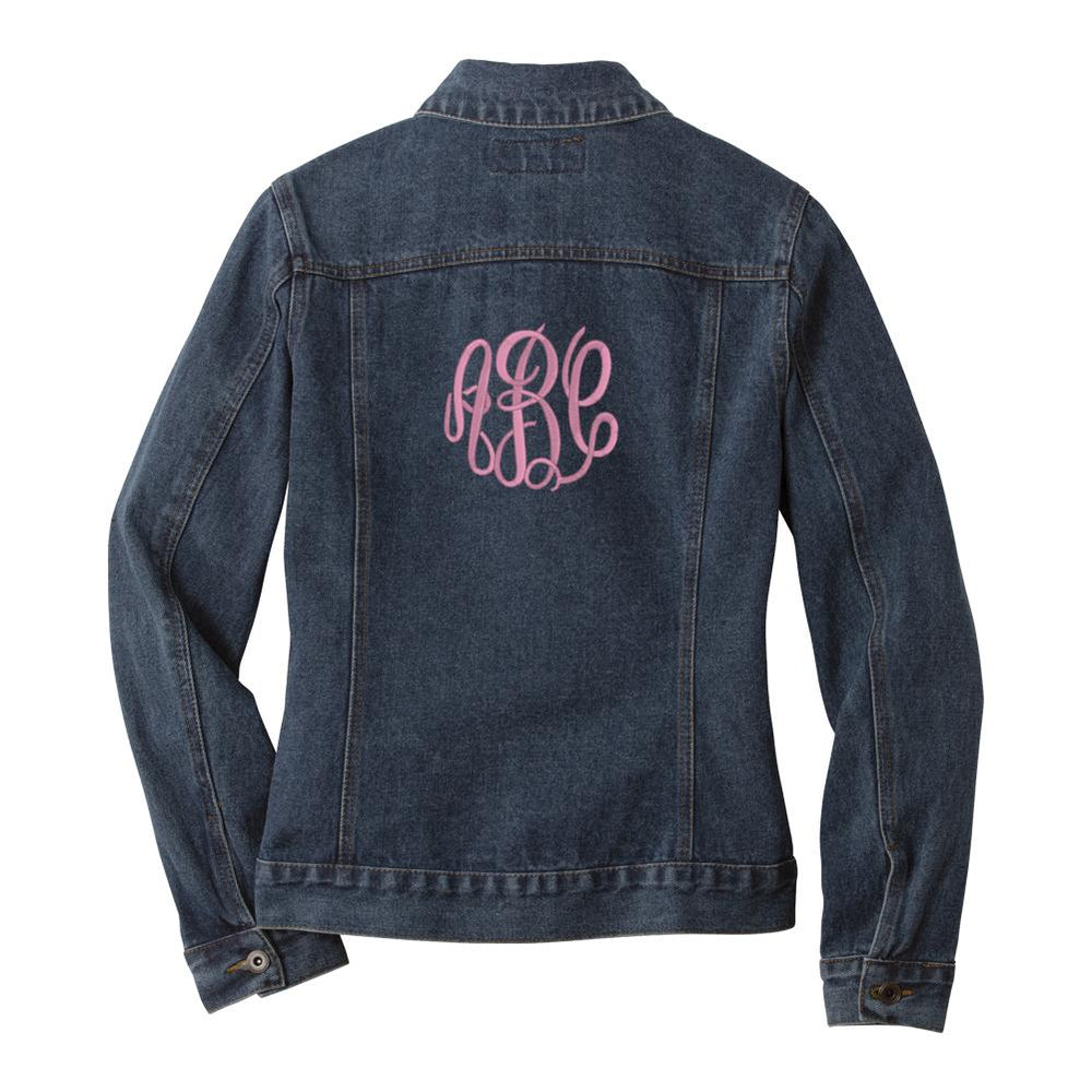 Monogrammed Jean Jacket Embroidered Jean Jacket Denim Jacket