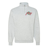 Monogrammed 'Joy' Quarter Zip Sweatshirt