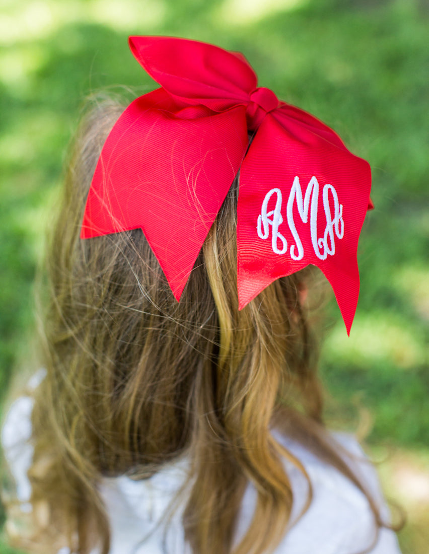 Kids Monogrammed Hair Bow for Girls
