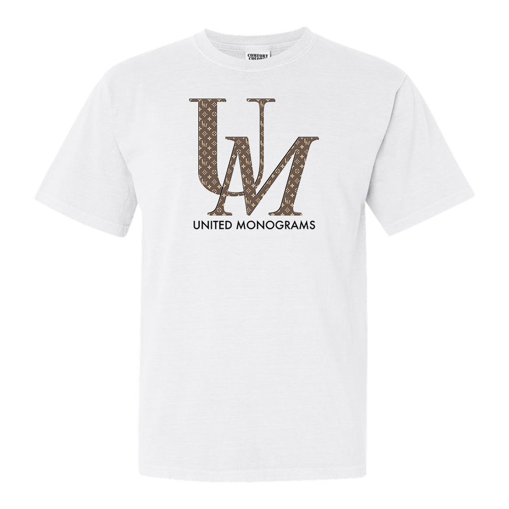 UM Brown Designer Pattern T-Shirt