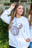 Trendy Print Disney Graphic Monogram Sweatshirt
