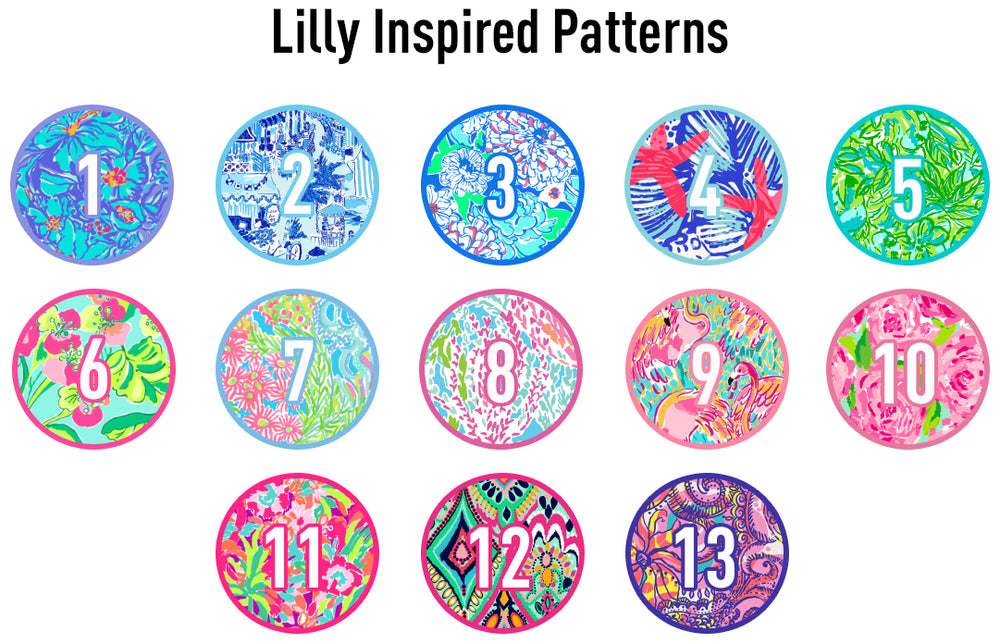 United Monograms Lilly Pulitzer Inspired Patterns