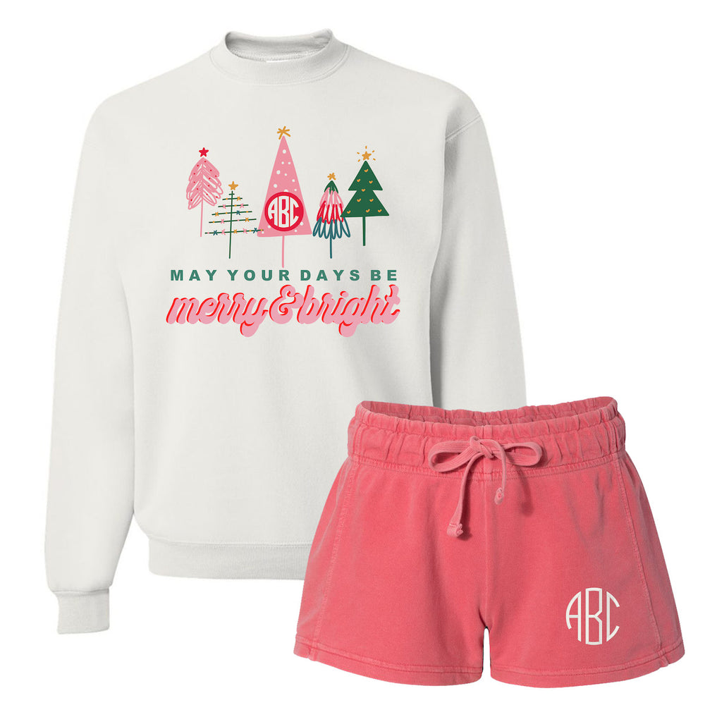 Monogrammed 'Merry & Bright' Lounge Set Package