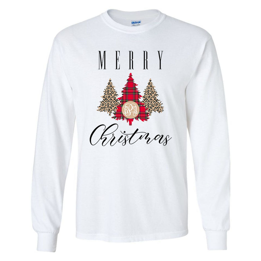 Merry Christmas Graphic Monogram Long Sleeve