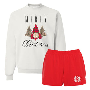 Monogrammed 'Merry Christmas' Pattern Lounge Set Package