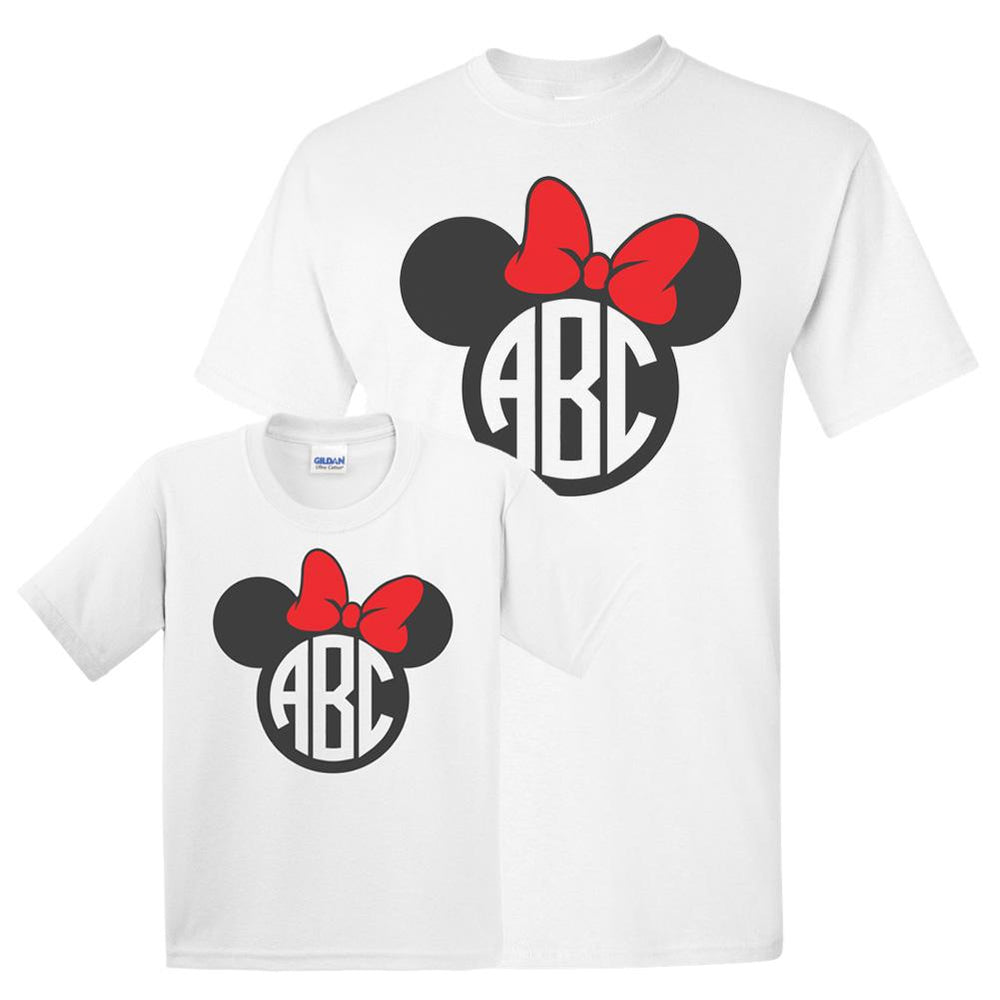 Monogrammed Mommy & Me Package Mickey Minnie Disney T-Shirts