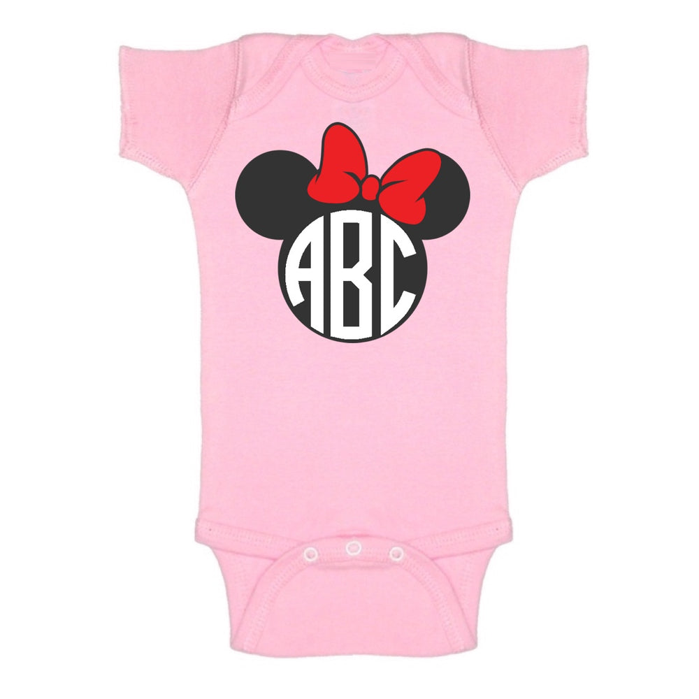 Pink Minnie Mouse Onesie