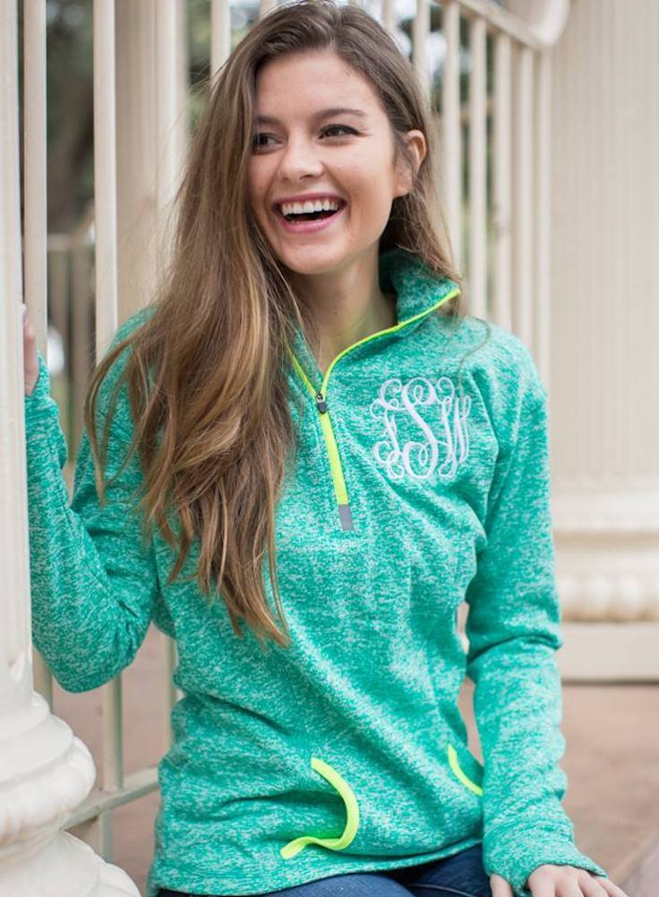 Monogrammed Athletic Neon personalizd