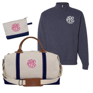 Monogrammed Package and Weekender Bag- Girl on the Go