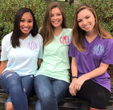 Monogrammed V-Neck- United Monograms Tee