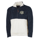 Monogrammed Two-Tone Quarter Zip Fleece