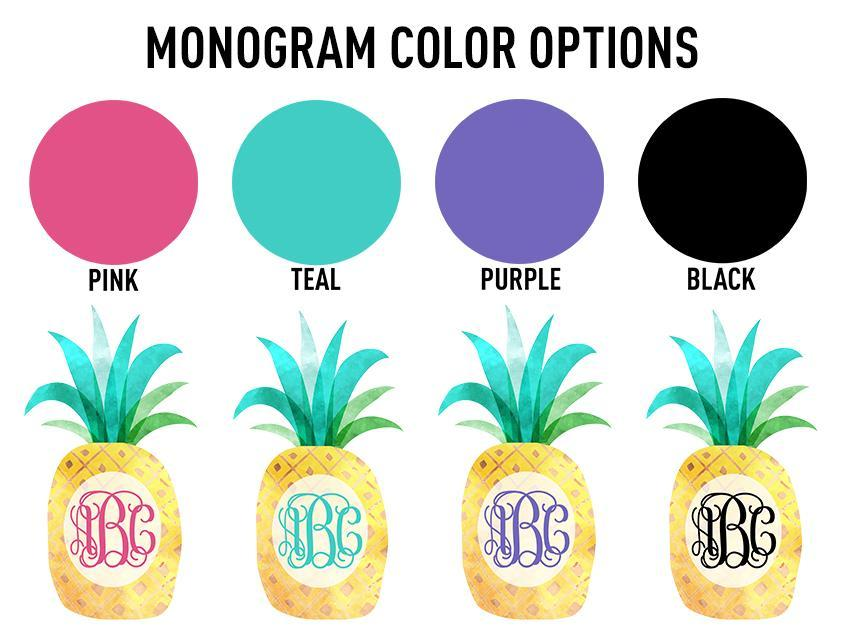 Monogrammed 'Watercolor Pineapple' T-Shirt