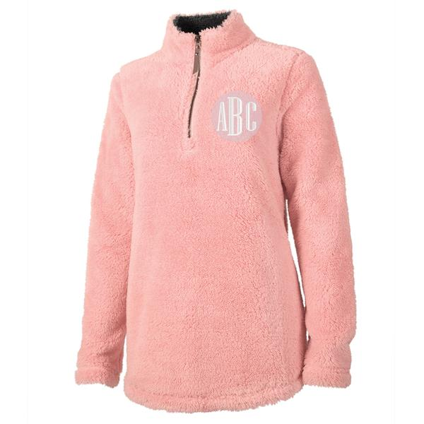 Monogrammed Charles River Quarter Zip Sherpa Fleece Pullover Winter