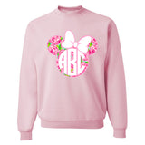 Monogrammed 'Lilly Minnie Mouse' Crewneck Sweatshirt