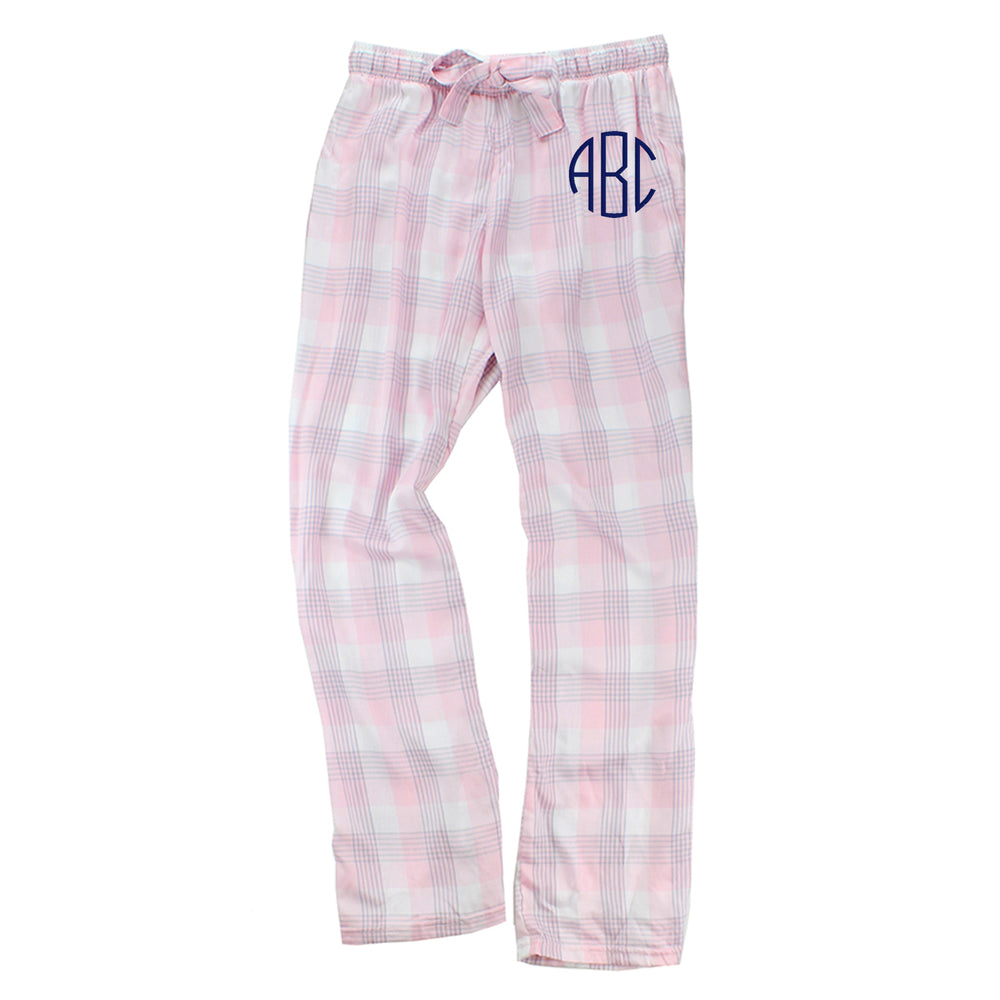 Monogrammed Featherlight Plaid Pants