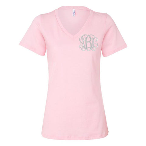 Monogrammed Relaxed V-Neck T-Shirt