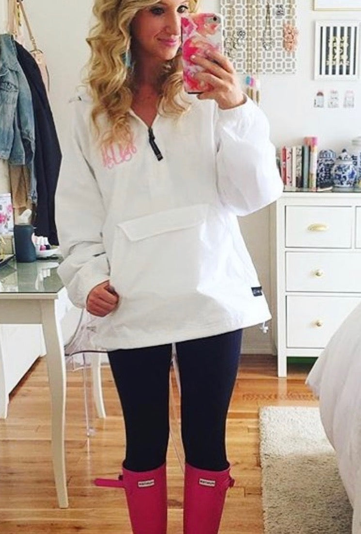 Selfie in United Monograms Pullover Rain Jacket