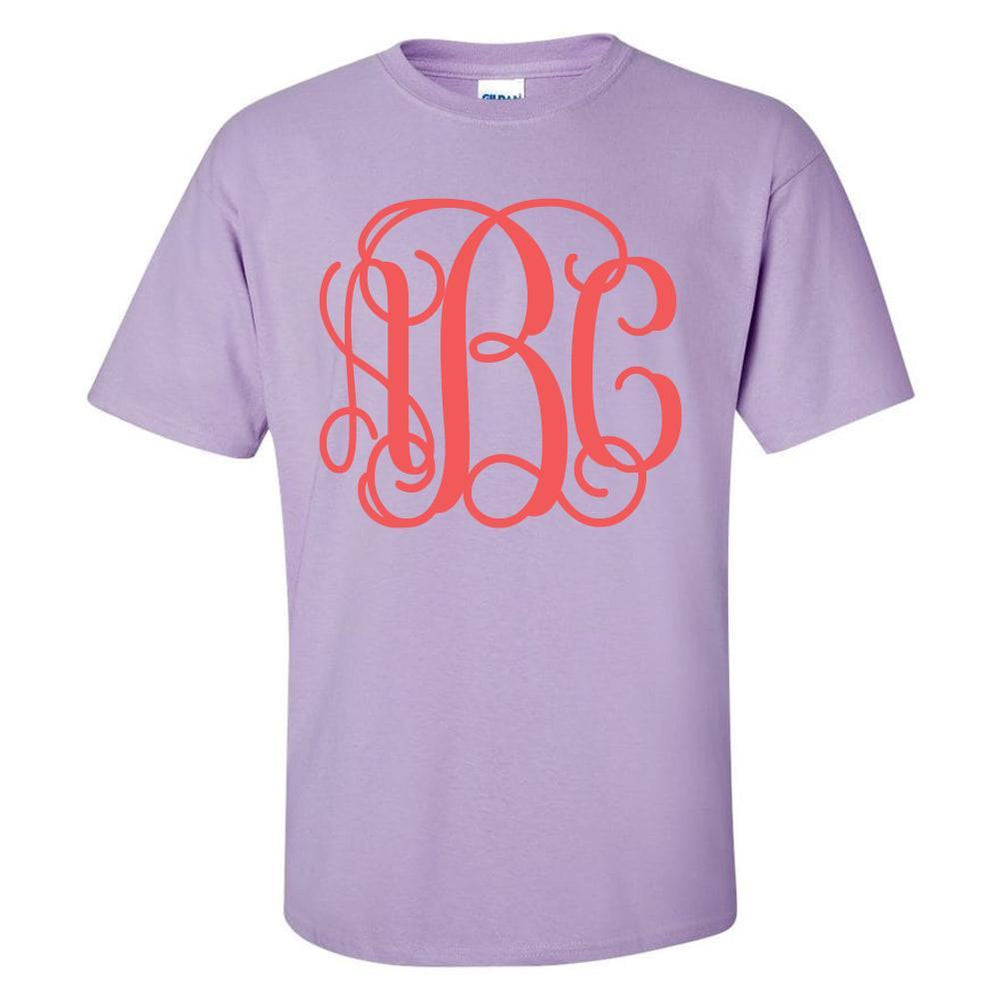 Monogrammed Big Print Basic T-Shirt