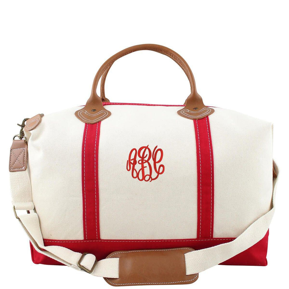 Monogrammed Canvas Weekender Bag