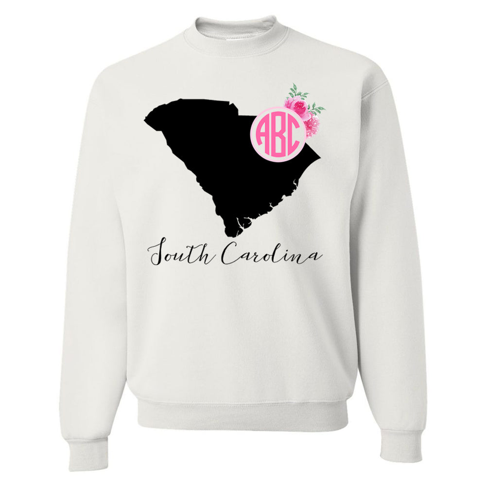 Monogrammed South Carolina State Pride Crewneck Sweatshirt